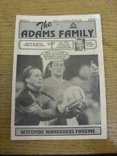 Feb-1995 Wycombe Wanderers: FANZINE-LA FAMIGLIA ADAMS EDIZIONE 16. grazie per la vista