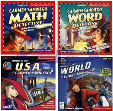 Carmen San Diego Series Edutainment Learning Games PC Windows 32-Bit Sealed New