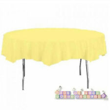 YELLOW MIMOSA ROUND PLASTIC TABLE COVER ~ Touch of Color Birthday Party Supplies