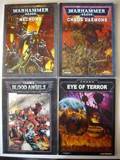 WARHAMMER 40k Lot of 4 Codex Expansion Guides NECRONS CHAOS DAEMONS SPACE MARINE