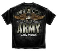 Erazor Bits T-Shirt - United States Army - Army Strong - Eagle - Black