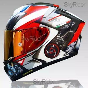 ✅ X14 X-Spirit 3 SHOEI Ducati V4 Motorcycle Full Face Helmet Marc Marquez Racing