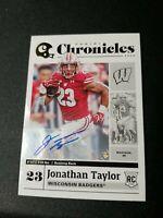 Jonathan Taylor Auto 2020 Chronicles Draft Picks  #10 Indianapolis Colts **RARE*
