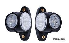 2X 12V 24V ROUND OUTLINE LED SIDE REAR MARKER LIGHTS LAMPS TRUCK TRAILER CHASSIS