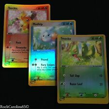 Treecko 003 Torchic 008 Mudkip 010 REV HOLO SET (NM/M) Black Star PROMO Pokemon