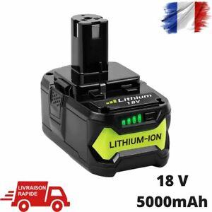 Batterie Pour Ryobi 18V 5Ah One + Plus Li-Ion De Remplacement RB18L50 P108 RB18L