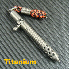 Collectable Titanium Ball Point Pen Office Pens Business Pen With Lanyard Bead