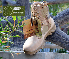Men's Military Combat Boots Desert Army Tactical High Top Work Outdoor Shoes SZ