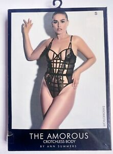 Ann Summers The Amorous Crotchless Body Size Small 8-10 Lingerie Erotic New