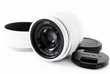 Panasonic LUMIX G H-H025 25mm f/1.7 Lens Silver [Exc w/Hood Japan [507]