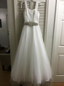 davids bridal wedding dress tulle ball gown size 4