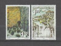 s36392 BOSNIA CROATIA 2001 EUROPA CEPT MNH** 2v ACQUA
