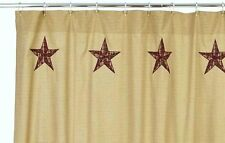 LONE STAR SHOWER CURTAIN : CABIN RUSTIC COUNTRY RED TAN BROWN PLAID LANDON