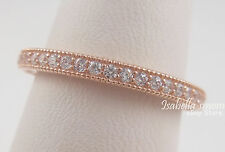 HEARTS OF PANDORA Band GENUINE Silver ROSE GOLD Plated RING/Clear CZ 7.5/56 NEW