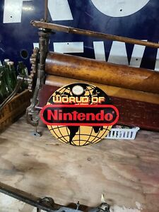 World of Nintendo Globe Sign Video Game Store Display