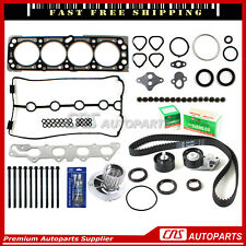 Head Gasket Set Bolts Timing belt Kit water pump For 04-05 Chevrolet Aveo 1.6L
