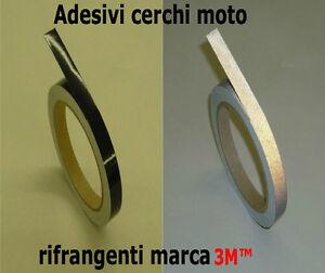 STRISCE MOTO BIKE ADESIVI CERCHI RIFRANGENTI 3M™ COLORE NERO 10mm X 6MT