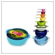 Joseph Joseph Bowl Nest SET of 2 Bowls + 4 Measuring cups + Sieve + Strainer