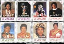MICHAEL JACKSON Music Pop 1985 St Vincent MNH  (8 Stamps)