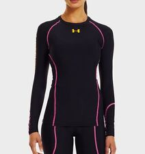 Under Armour 1238266 Women's UA Recharge® Long Sleeve Black Compression Top XS