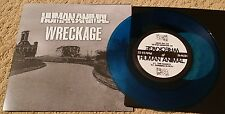 "HUMAN ANIMAL / WRECKAGE SPLIT 7"" BLUE WAX (200 PRESS) SXE NYHC BURIED ALIVE"