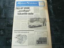 DE AUTOMOBILIST 1966 NO 12 SHELL CFR MOTOR,SHOW GENEVE,VOLVO,BUSSING,SONETT II,