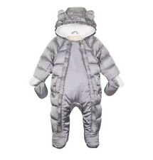 Ted BakerBaby Girls' Silver Shower Resistant Snowsuit. 3-6 Months. BNWT