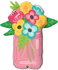 """MOTHER'S DAY PARTY SUPPLIES 36"""" FLOWER BOUQUET SUPERSHAPE QUALATEX FOIL BALLOON"""
