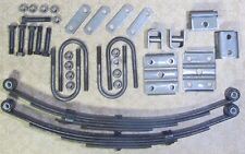 2 x 1,750 lb springs and u-bolt kit for trailer 3,500 # single axle suspension