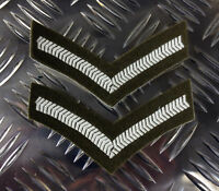 Genuine British Army Rank Stripes / Chevrons / Badges / Patches - Brand NEW x 2