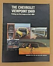 The Chevrolet Viewpoint 1969 Guide Magazine: Highlights The 1969 Cars