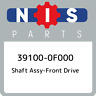 39100-0F000 Nissan Shaft assy-front drive 391000F000, New Genuine OEM Part