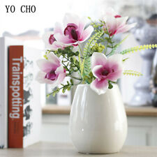 Artificial Flowers Fake Silk Orchid Magnolia Bouquet Home Wedding Party Decor
