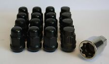 12x M12x 1,5 Negro Tuercas De Ruedas & bloqueo compatible con DAIHATSU Material