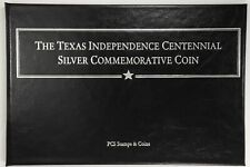 1934 Texas Classic Commemorative Half Dollar - Extra Fine and Associated Stamps