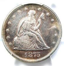 1875-P Twenty Cent Coin 20C - Certified PCGS AU Details - Rare Date 1875 Coin!