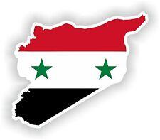 Sticker Silueta Siria Mapa Bandera Para Parachoques Guitarra Patineta Locker Tablet