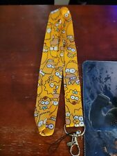 Yellow Simpsons lanyard