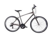 Biciclette ibrida grigie in alluminio