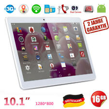 "PC tablet 10.1"" Pollici Quad Core 16GB Android 6.0 Dual Sim 3G Smartphone GPS IT"
