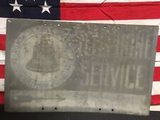 Ultra Rare! Mountain States Bell Systems Telephone And Telegraph Metal Sign.1920