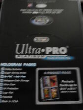 NON SPORT ULTRA PRO 4 POCKET PLATINUM PAGES X 10 BRAND NEW FROM NEW BOX