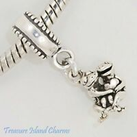 Frog Couple with Heart Love 925 Solid Sterling Silver European Bead Charm Euro