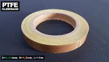 PTFE Glasgewebe Klebeband / Teflonband / 0,09mm x 15mm x 10m