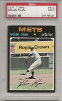 1971 TOPPS #513 NOLAN RYAN, PSA 7 NM, HOF, NEW YORK METS, THE EXPRESS, L@@K !