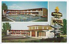 Hôtel Motel Biscayne Inn BROSSARDVILLE Quebec Canada Advertising Postcard