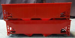 K-Line O Scale Undecorated 2-Bay Coal Hopper Cars Shells Only Lot Of 2