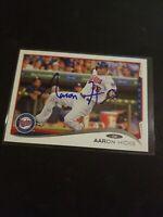 Minnesota Twins Aaron Hicks Autograph 2014 Topps Signed Card 12 Auto Yankees MLB