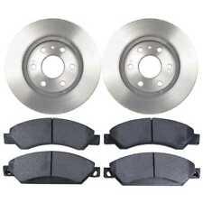 Front (2) Brake Rotors (4) Metallic Pads Fits Chevrolet Silverado 1500 2005-2017