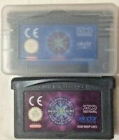 Who wants to be a millionaire Nintendo GBA Cartridges